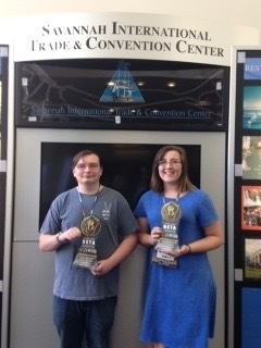 Pall Hall and Gracie Barrett win first and fourth place at National BETA Convention.