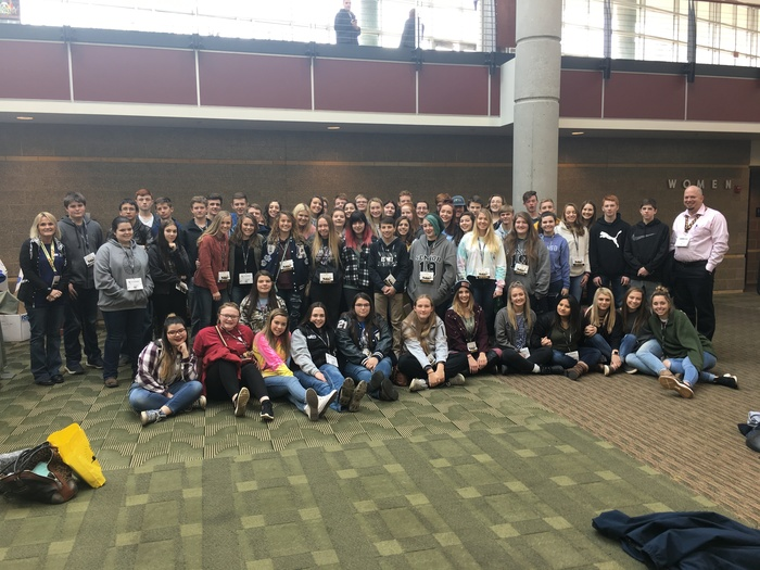 Winners at Beta State Convention and attendees