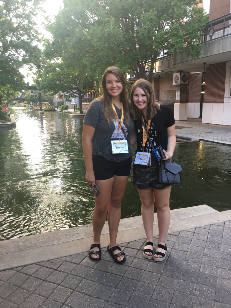 Kelsie Orr and Jace Reese at National Beta Convention in Oklahoma City
