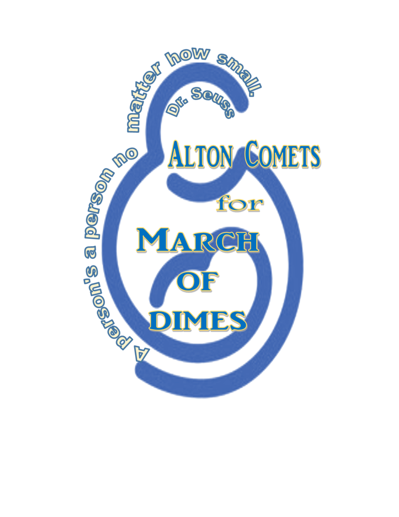 March of Dimes logo in blue and gold.