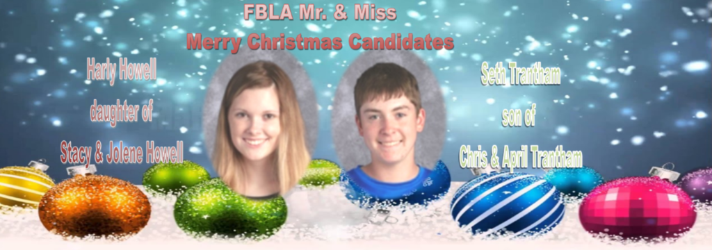 FBLA Mr. & Miss Merry Christmas Candidates