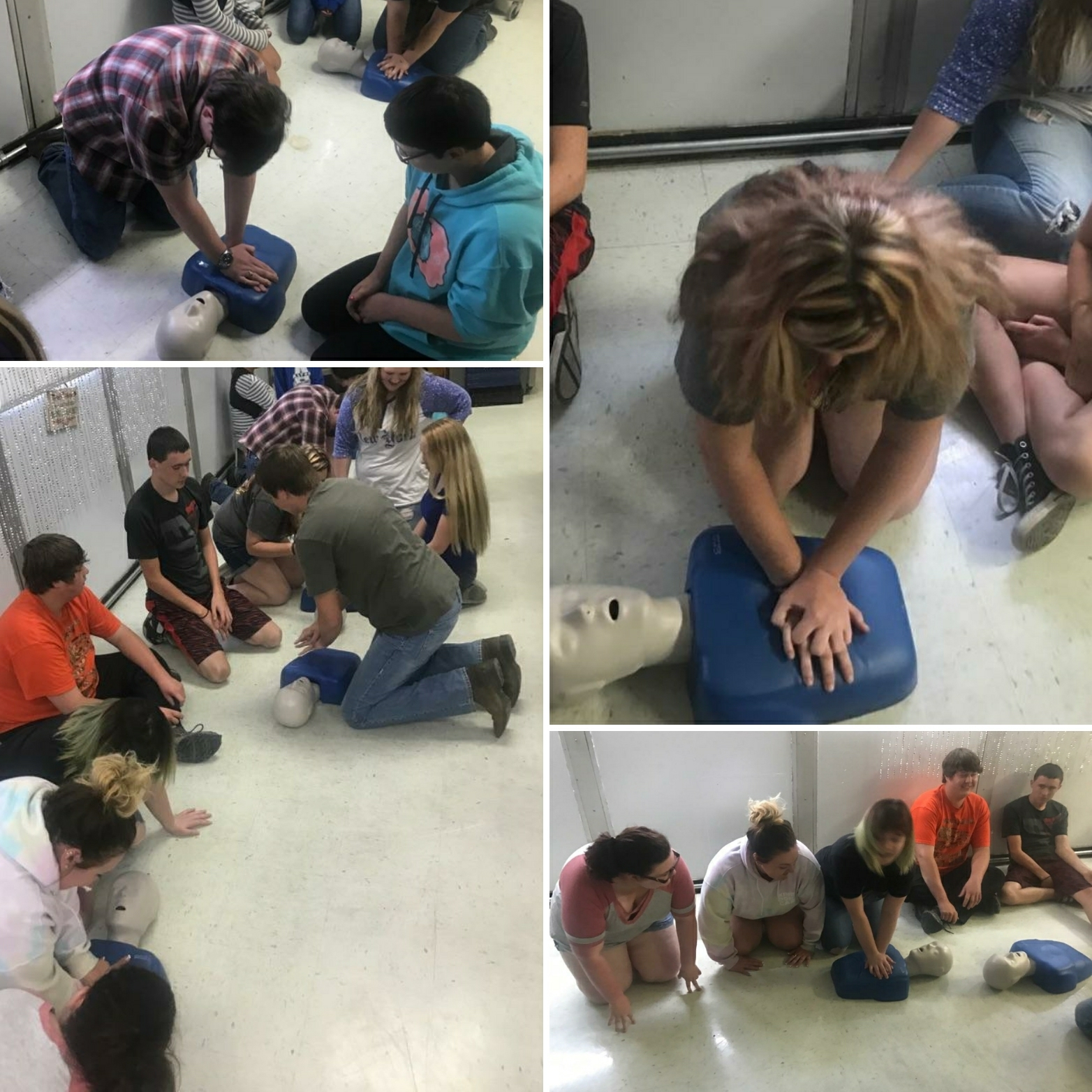 Ms. Granger's class learns CPR and first aid during summer school!